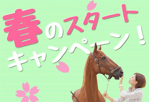 【終了】春のスタートキャンペーン♪乗馬をはじめたい方にオススメ